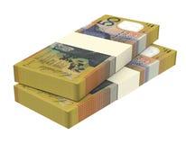 Australian dollar isolated on white background. Stock Photos