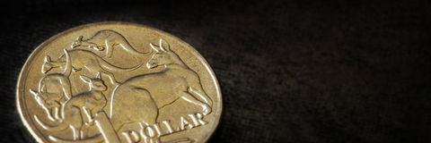 Australian Dollar Macro Banner Royalty Free Stock Photography