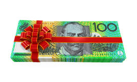 Australian Dollar Money Gift Stock Photography