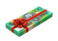 Australian Dollar Money Gift Stock Photo