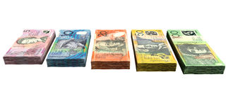 Australian Dollar Notes Collection Stock Image
