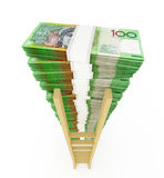 Australian dollar stack Royalty Free Stock Photo