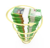 Australian dollar stack Stock Photo