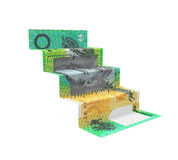 Australian Dollar Staircase Origami Stock Photos