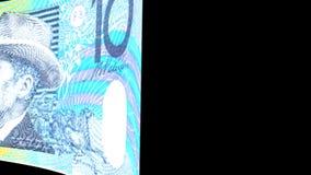 Australian Dollar Transition stock footage