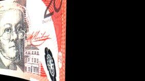 Australian Dollar Transition stock video footage