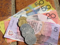 Australian Dollars Stock Photography