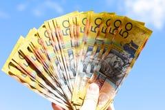 Australian dollars stock photos