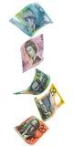Australian Dollars Vartical. Australian Dollars Bank Notes in a vertical arrangment Royalty Free Stock Image