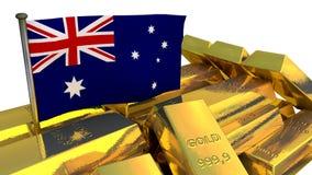 Australian economy concept with gold bullion Stock Images