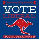 Australian Election card Stock Photos