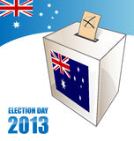 Australian election day. Background with urn Vector Illustration