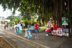 Australian Election Day Polling Station Royalty Free Stock Images