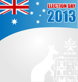 Australian electoin day background. With emblem Stock Illustration