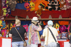 Australian fairground attraction shooting gallery 2015. Sideshow alley at an agricultural show Royalty Free Stock Image