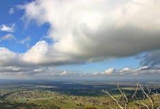 Australian Farm Land. Australian Farming land from a lookout on Mt. Alexander Stock Photo