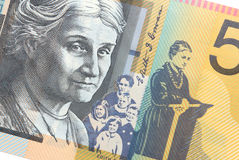 Australian Fifty Dollar Banknote over white background royalty free stock image