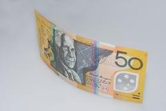 Australian Fifty Dollar Banknote Standing up David Ngunaitponi Side Royalty Free Stock Image