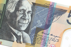 Australian Fifty Dollar Banknote on white background Royalty Free Stock Images