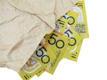 Australian Fifty dollar Notes Royalty Free Stock Photography