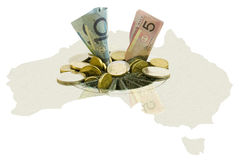 Australian financial crisis stock photo