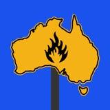 Australian fire warning sign Stock Photography