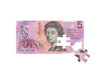 Australian Five Dollar Note Royalty Free Stock Image