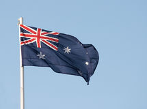Australian flag. The national flag of Australia stock photos