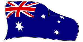 Australian flag Royalty Free Stock Image
