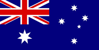 Australian flag. Static Australian flag isolated as background