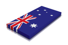 Australian flag. 3d Render with reflection stock illustration