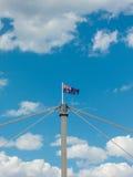 Australian flag atop Westgate Bridge, Melbourne. Royalty Free Stock Images