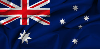 Australian flag - Australia. Waving australian flag - flag of australia Royalty Free Stock Photo