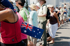 Australian flag, Australia Day celebrations. Stock Photo