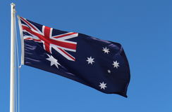 Australian Flag. The Australia's National Flag. Flying high Royalty Free Stock Photo