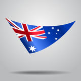 Australian flag background. Vector illustration. Australian flag wavy abstract background. Vector illustration royalty free illustration