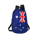 Australian flag backpack isolated on white Royalty Free Stock Photography