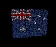 Australian flag on blocks Royalty Free Stock Image