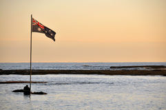 Australian Flag at Early Morning Royalty Free Stock Images