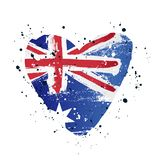 Australian flag in the form of a big heart. Vector illustration. On white background. Brush strokes drawn by hand. Independence Day in Australia vector illustration