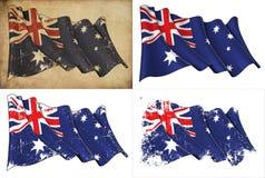 Australian Flag Grunge Royalty Free Stock Image