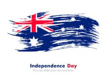Australian flag. Independence Day. Flag painted with a brush with paint. Grungy flag. Australian flag Royalty Free Illustration