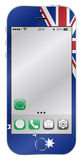 Australian Flag Mobile Phone Stock Photo