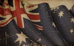 Australian Flag Old Paper Royalty Free Stock Image