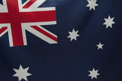 The Australian Flag Series. Close up view of an Australian flag.  Part of a series Stock Image