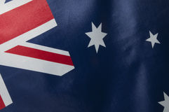 The Australian Flag Series. Close up view of an Australian flag.  Part of a series Royalty Free Stock Photo