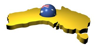 Australian flag sphere with map Royalty Free Stock Photography