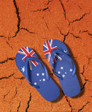 Australian Flag Thongs Icon Stock Photography
