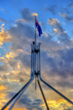 The Australian flag on top of Parliament House in Canberra Royalty Free Stock Photos