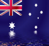 Australian flag water Royalty Free Stock Photos